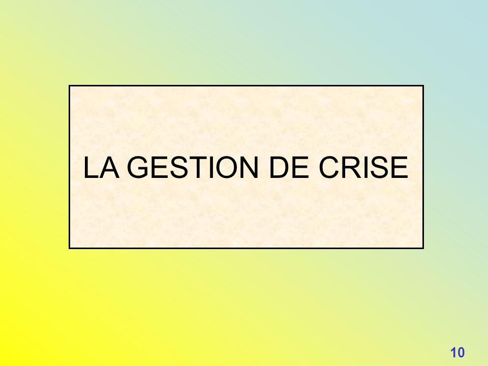 LA GESTION DE CRISE 10