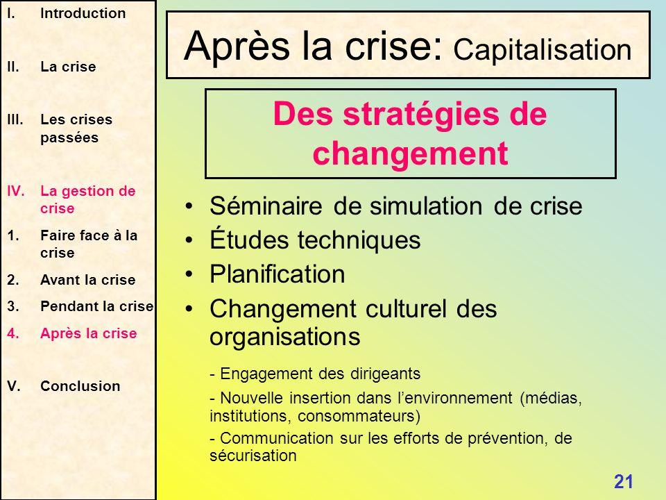 Des stratégies de changement