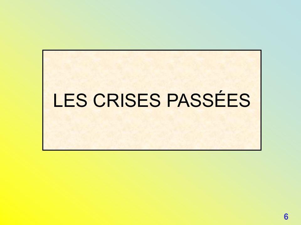 LES CRISES PASSÉES 6