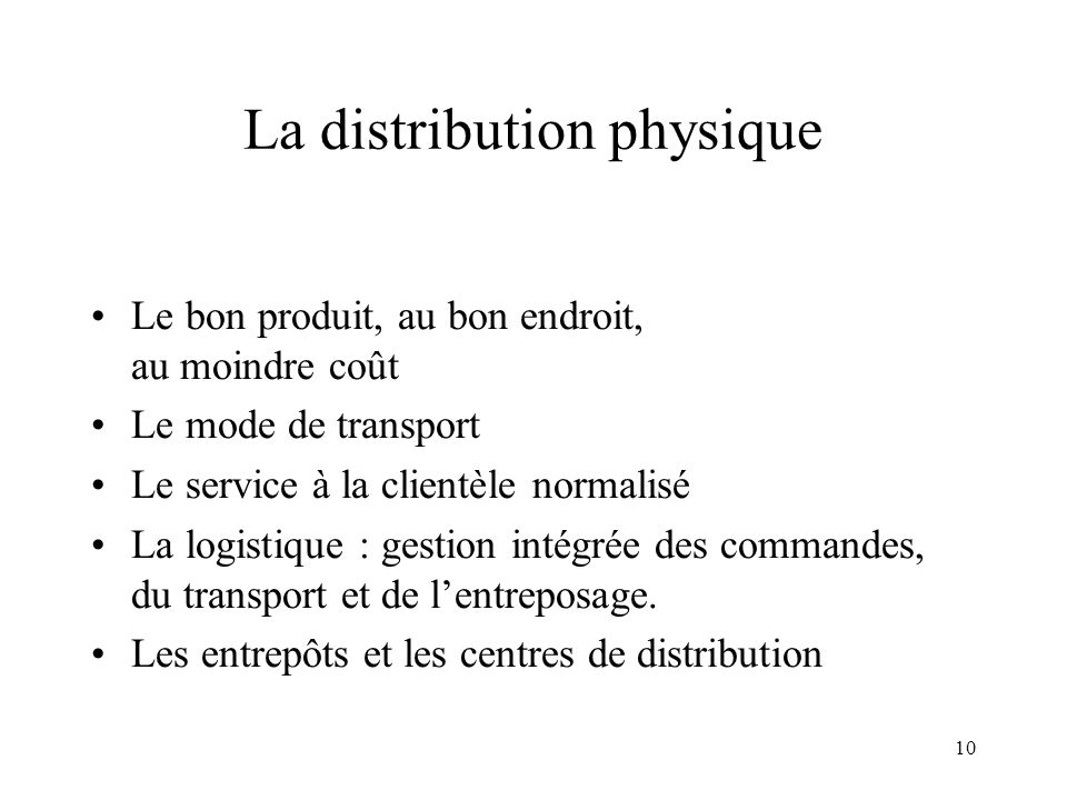 La distribution physique