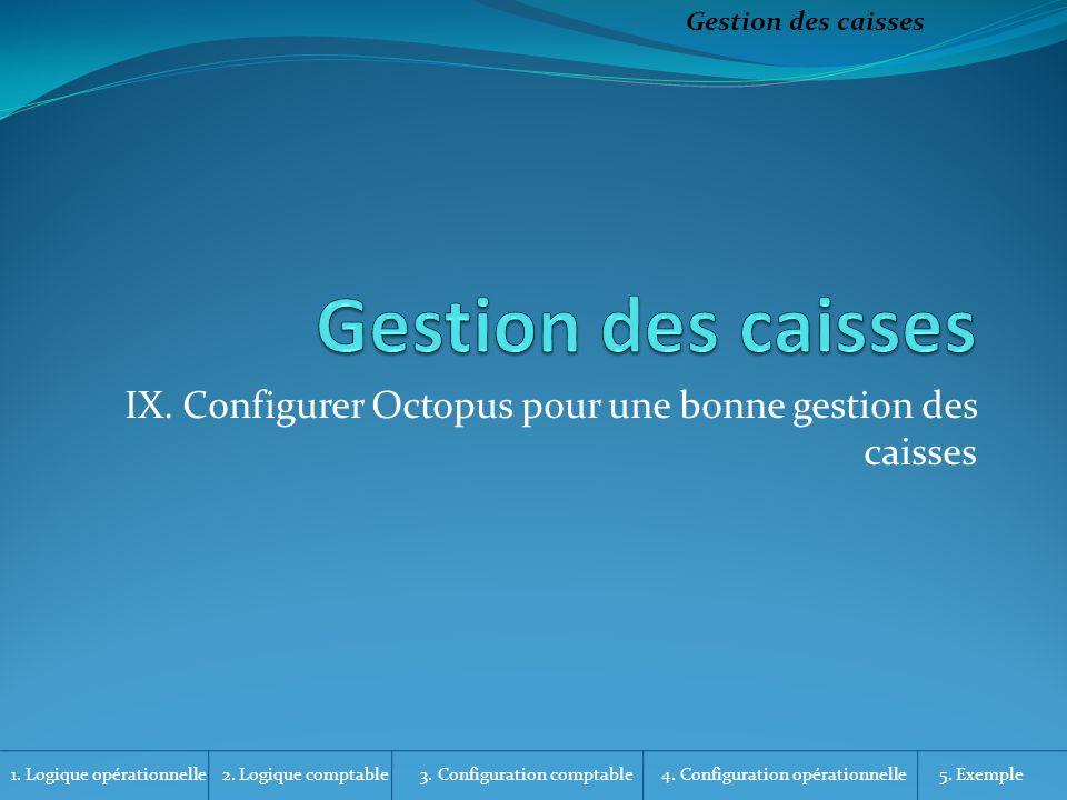 IX. Configurer Octopus pour une bonne gestion des caisses