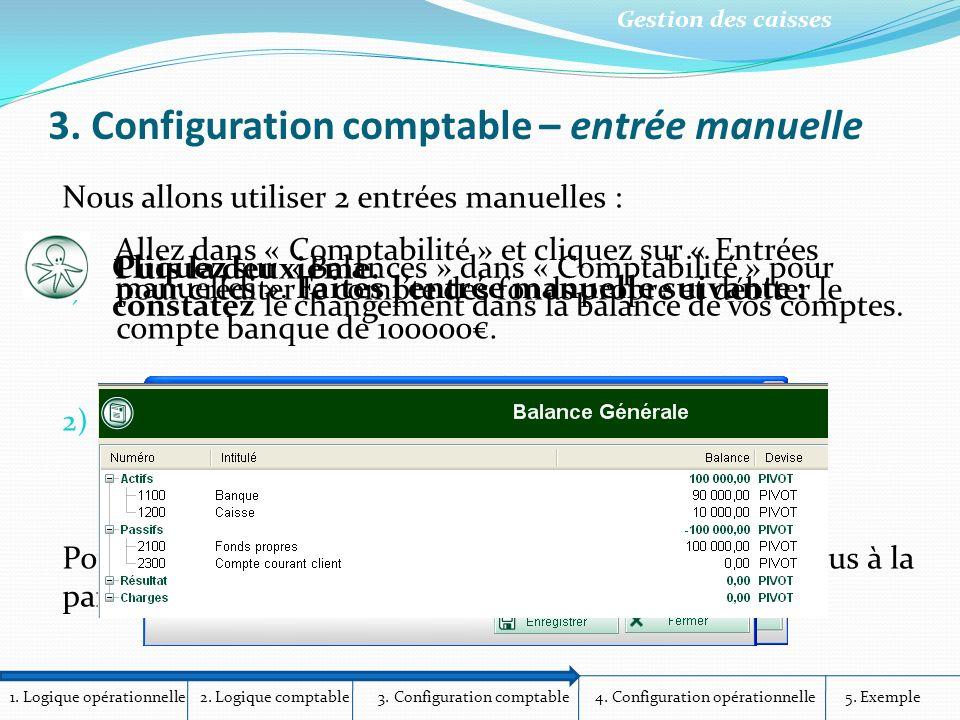 3. Configuration comptable – entrée manuelle