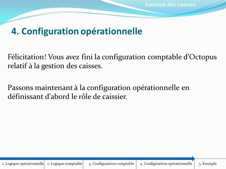 4. Configuration opérationnelle