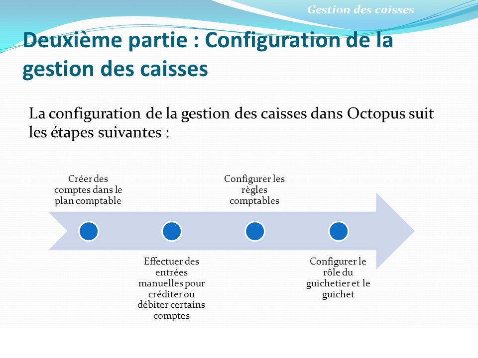 Deuxième partie : Configuration de la gestion des caisses