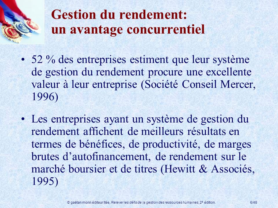 Gestion du rendement: un avantage concurrentiel