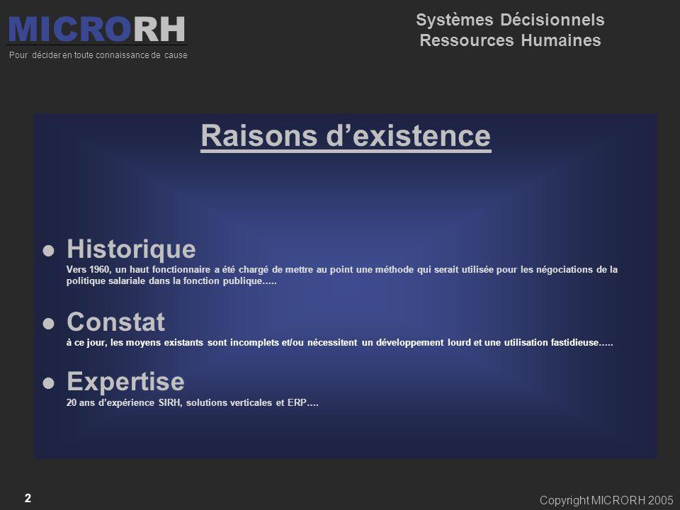 Systèmes Décisionnels Ressources Humaines
