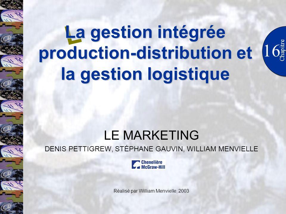 La gestion intégrée production-distribution et la gestion logistique