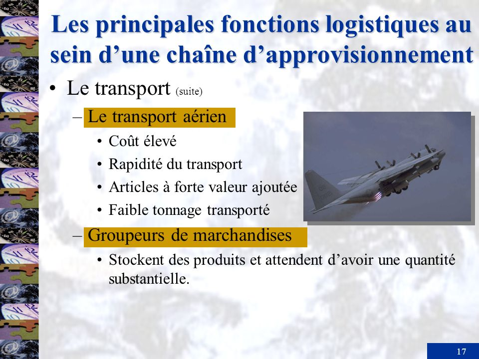 Les principales fonctions logistiques au sein d'une chaîne d'approvisionnement