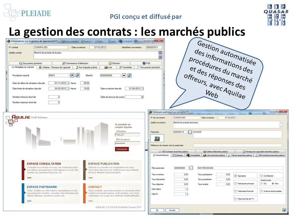 La gestion des contrats : les marchés publics