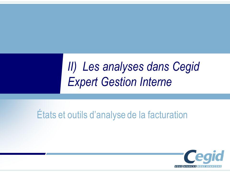 II) Les analyses dans Cegid Expert Gestion Interne