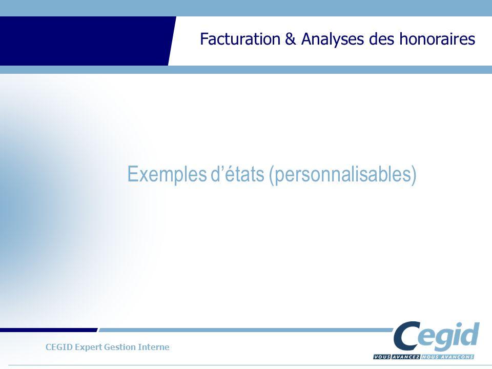 Exemples d'états (personnalisables)