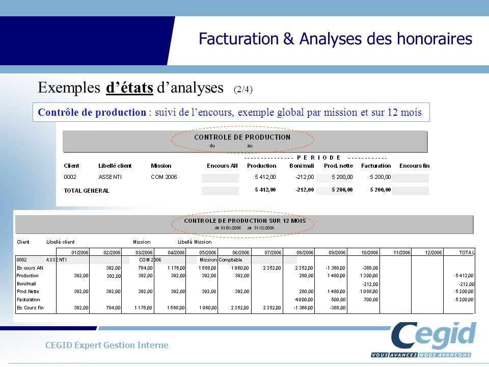Exemples d'états d'analyses (2/4)