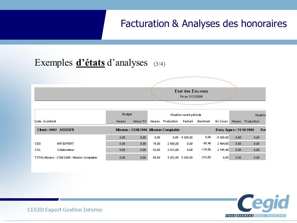 Exemples d'états d'analyses (3/4)