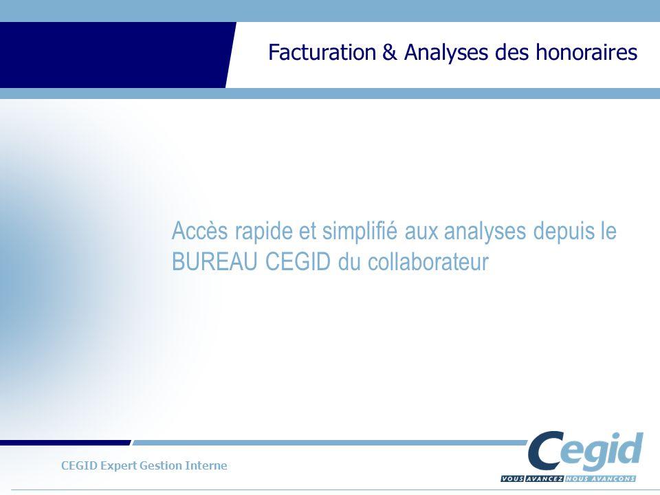 Accès rapide et simplifié aux analyses depuis le BUREAU CEGID du collaborateur