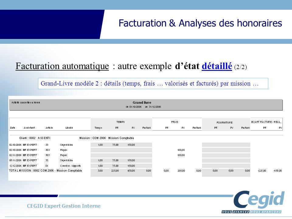 Facturation automatique : autre exemple d'état détaillé (2/2)