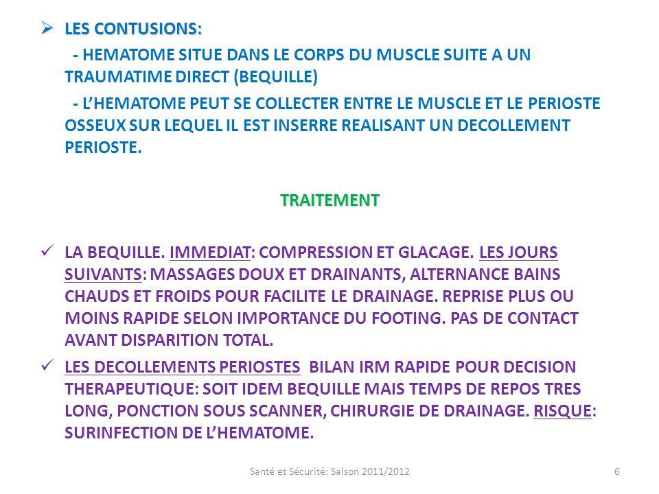 Santé et Sécurité; Saison 2011/2012