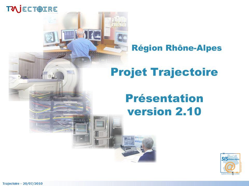 Région Rhône-Alpes Projet Trajectoire Présentation version 2.10