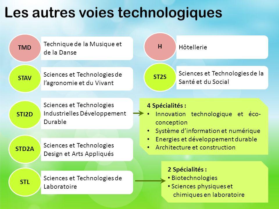 Les autres voies technologiques