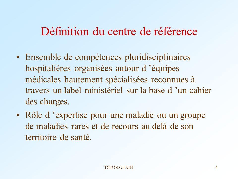 Définition du centre de référence