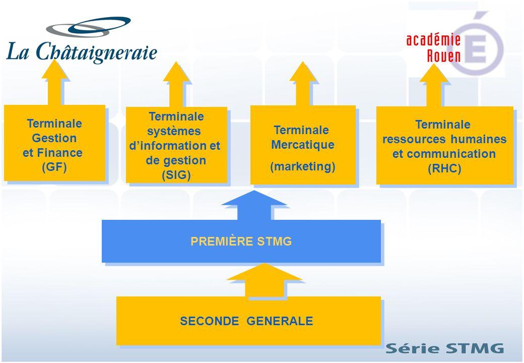 Terminale Gestion et Finance (GF) Terminale systèmes d'information et