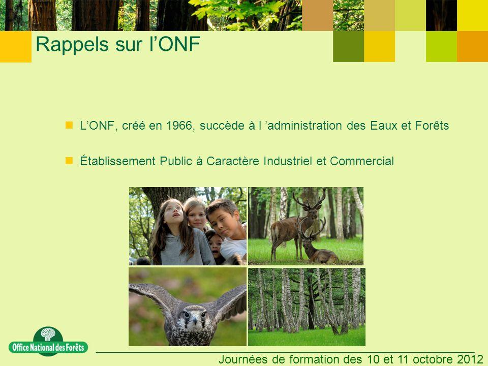 Rappels sur l'ONF L'ONF, créé en 1966, succède à l 'administration des Eaux et Forêts.