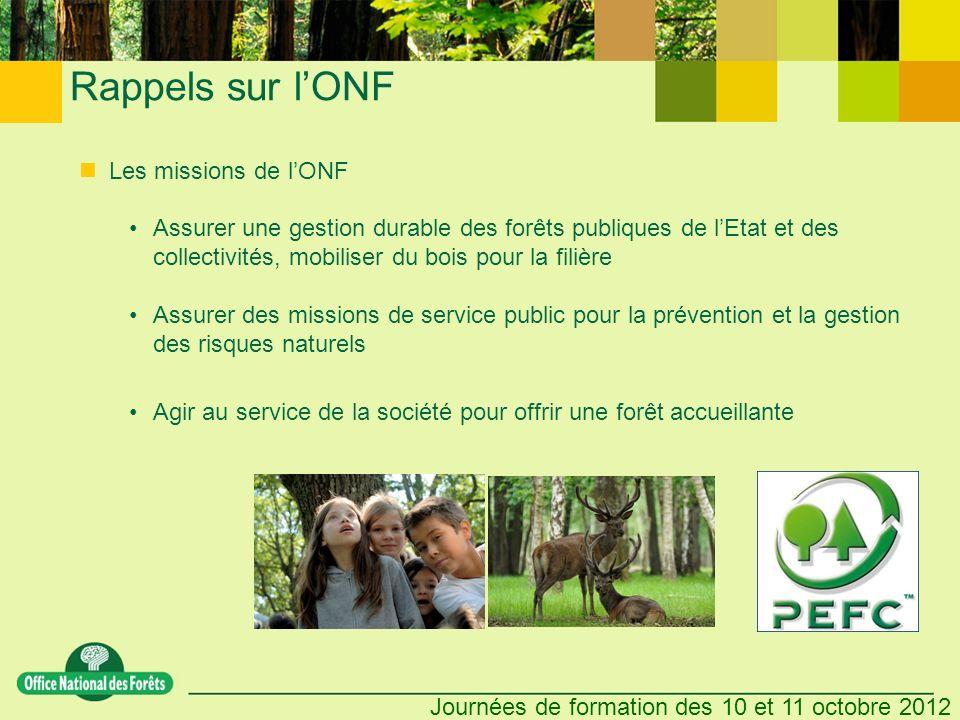 Rappels sur l'ONF Les missions de l'ONF