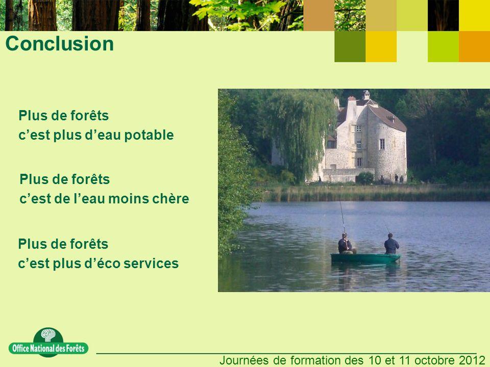 Conclusion Plus de forêts c'est plus d'eau potable Plus de forêts