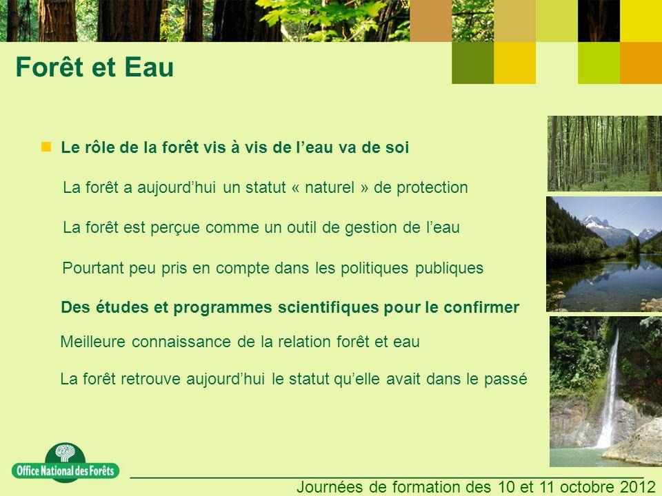 Forêt et Eau Le rôle de la forêt vis à vis de l'eau va de soi
