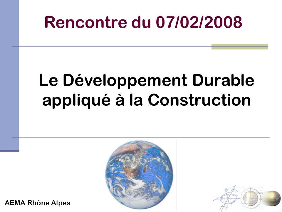 Le Développement Durable appliqué à la Construction