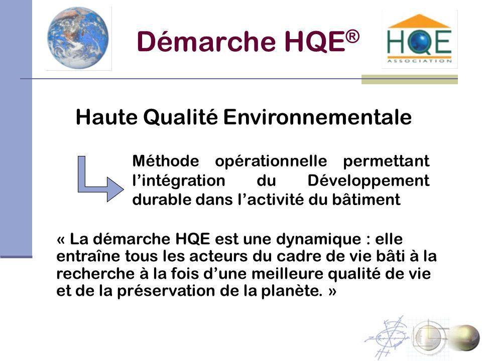 Démarche HQE® Haute Qualité Environnementale