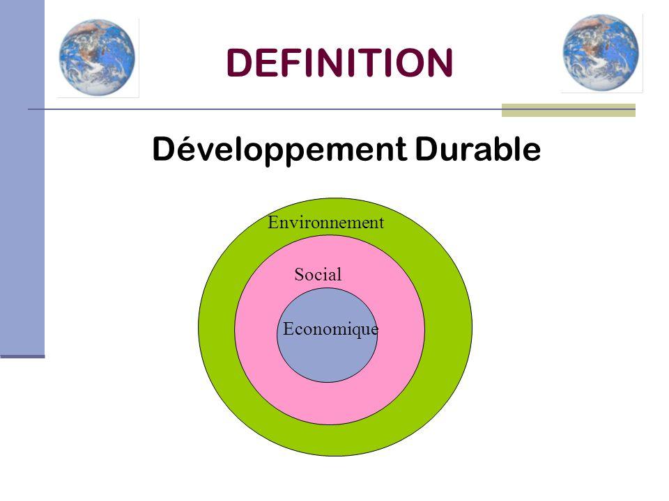 DEFINITION Développement Durable Environnement Social Economique