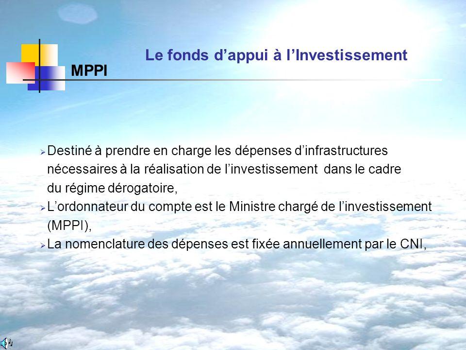 Le fonds d'appui à l'Investissement