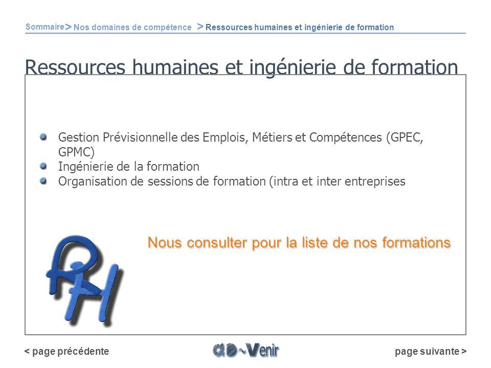 Ressources humaines et ingénierie de formation