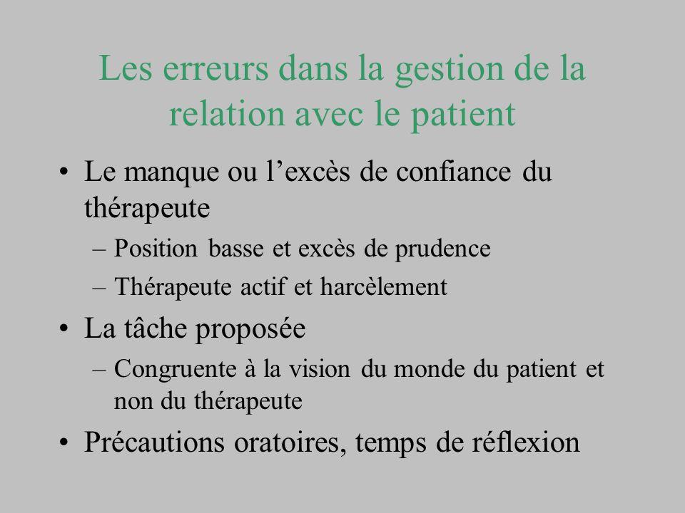 Les erreurs dans la gestion de la relation avec le patient