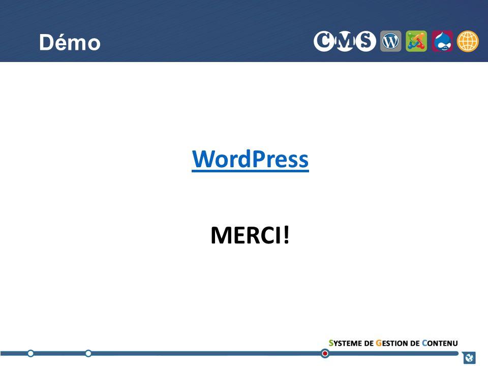 Démo WordPress MERCI!