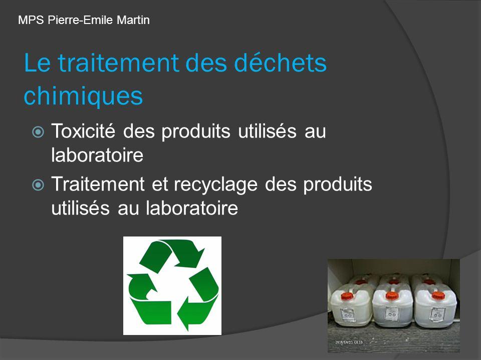 Le traitement des déchets chimiques