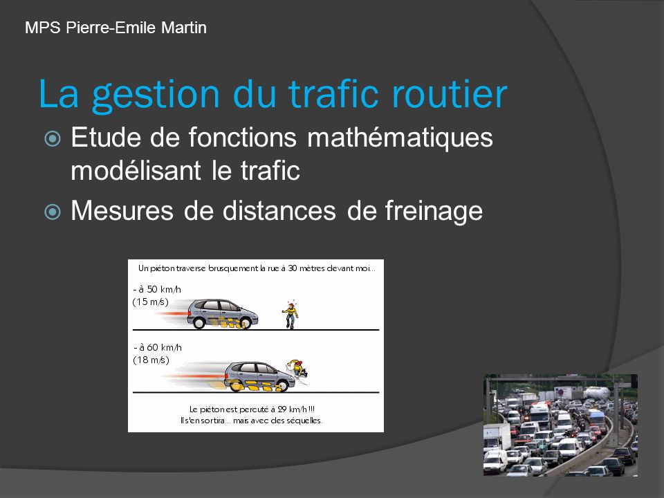 La gestion du trafic routier