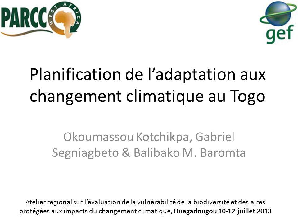 Planification de l'adaptation aux changement climatique au Togo