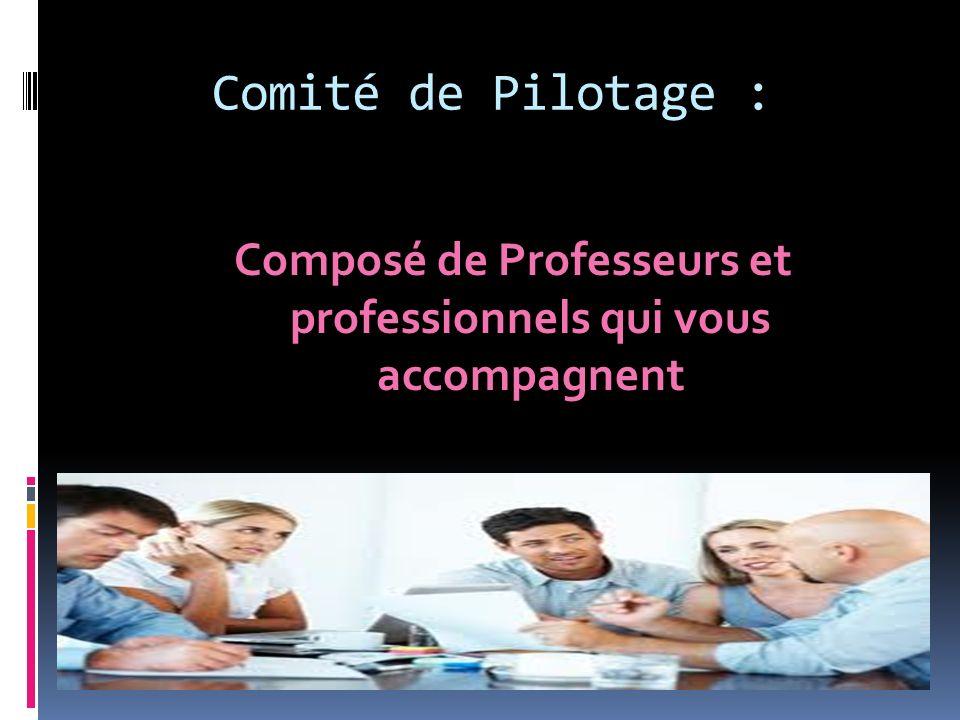 Composé de Professeurs et professionnels qui vous accompagnent