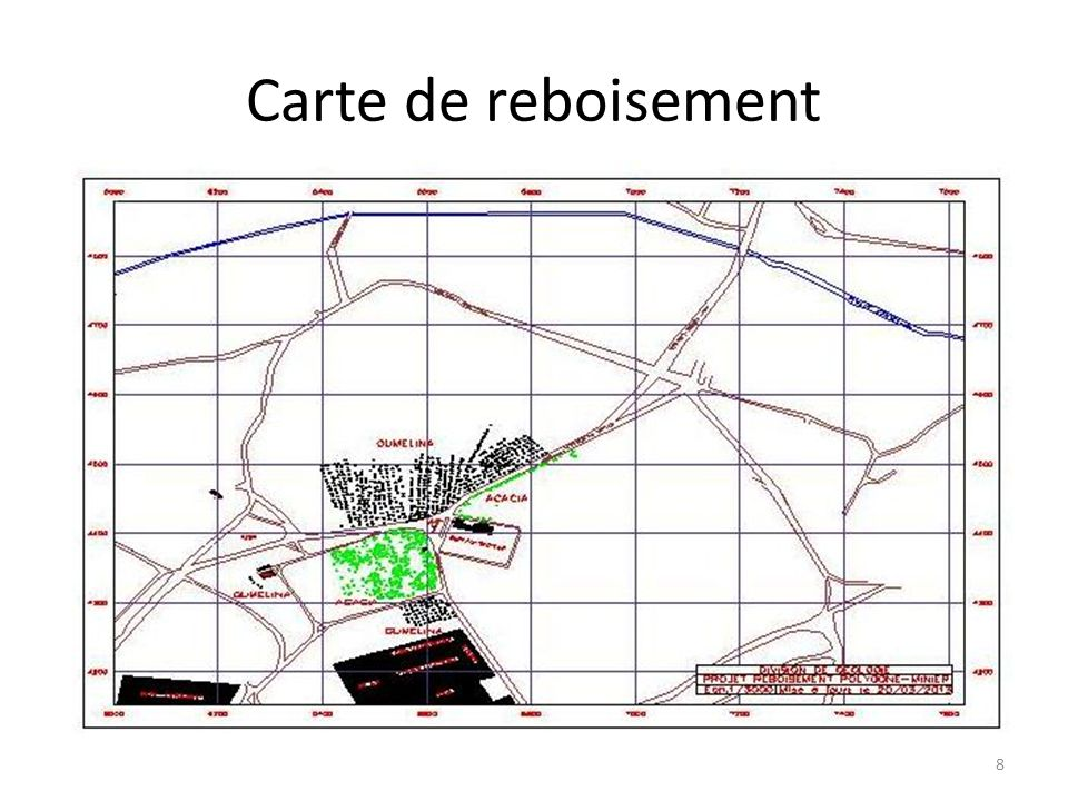 Carte de reboisement