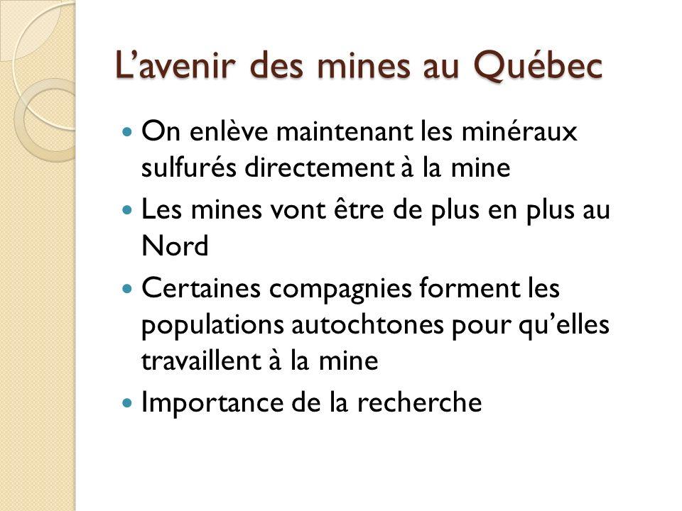 L'avenir des mines au Québec