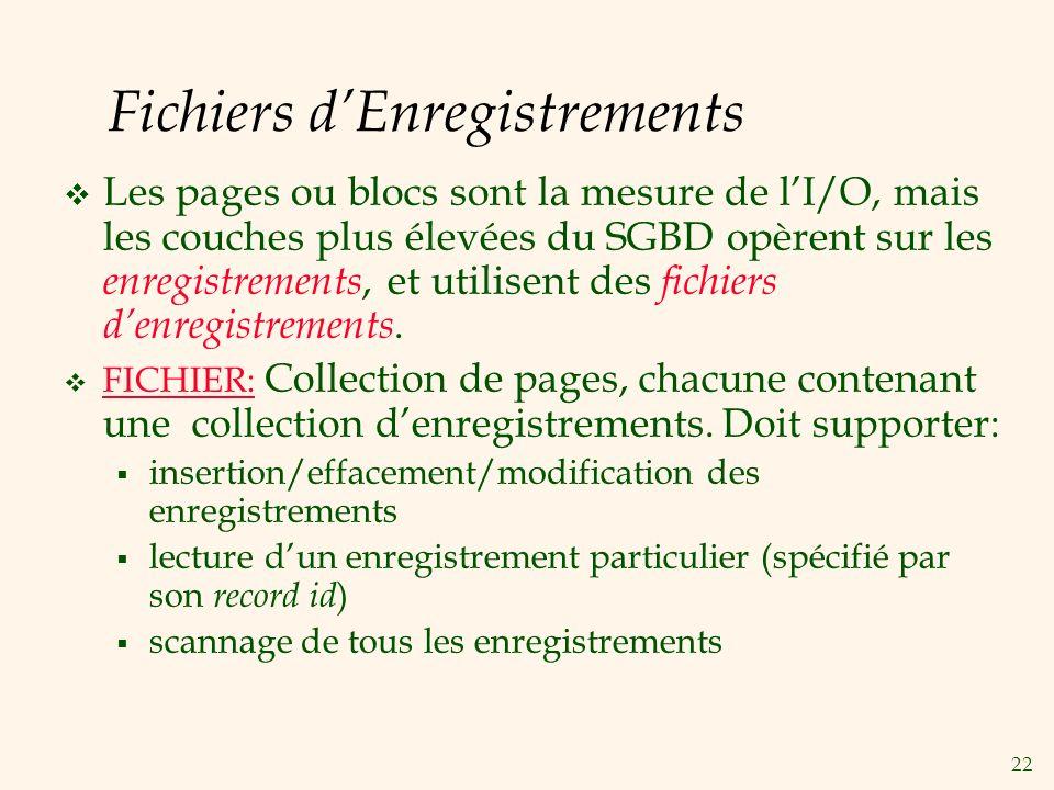 Fichiers d'Enregistrements