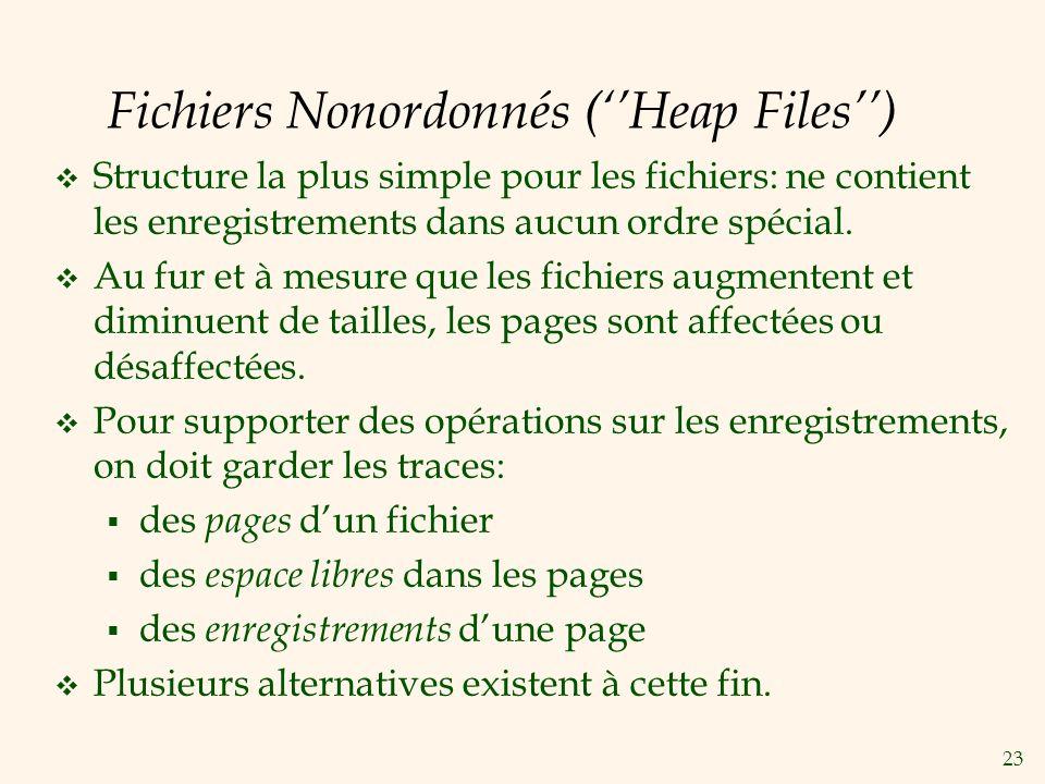 Fichiers Nonordonnés (''Heap Files'')