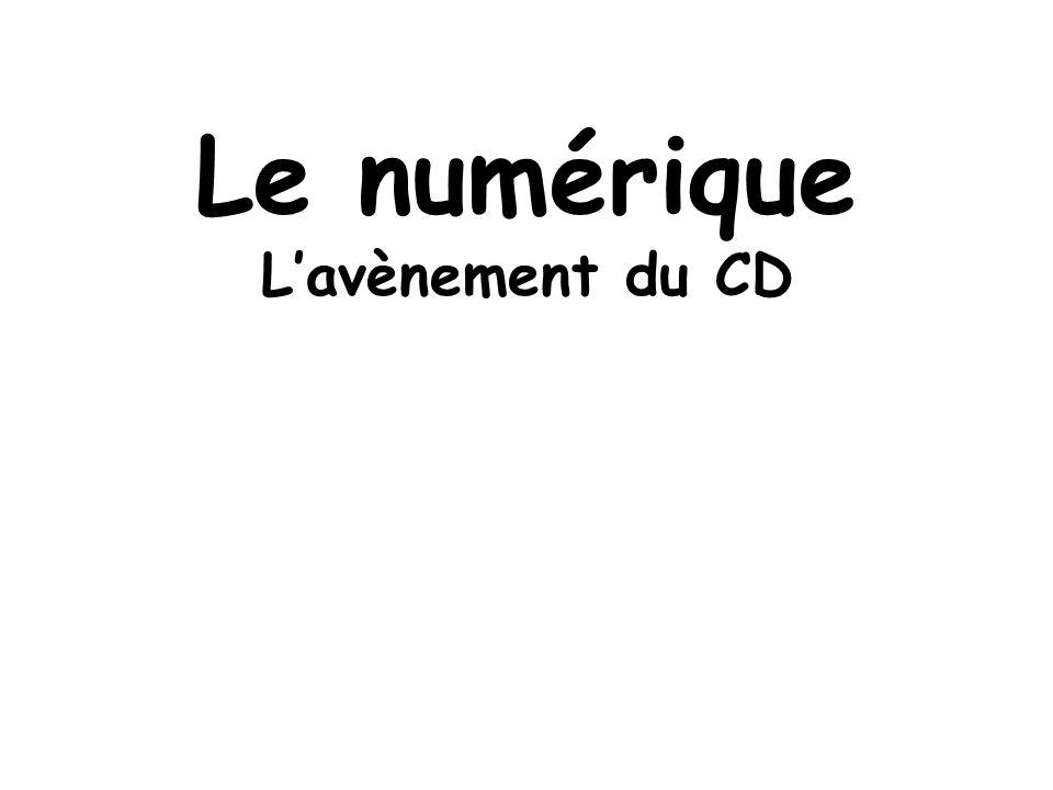 Le numérique L'avènement du CD