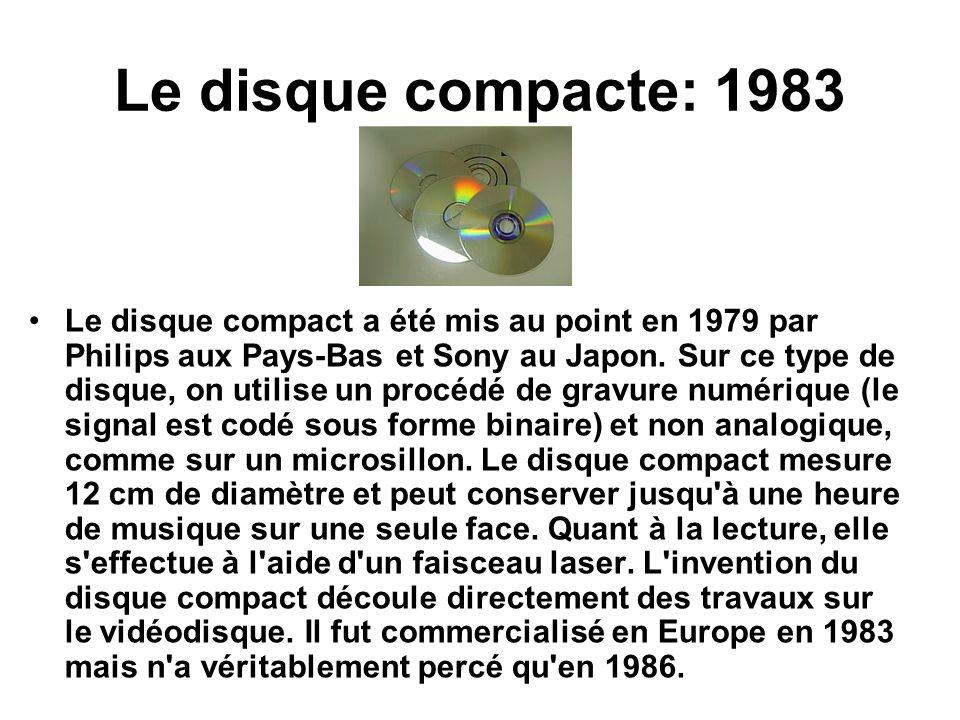 Le disque compacte: 1983
