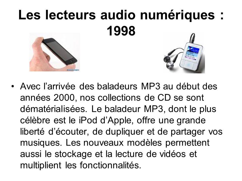Les lecteurs audio numériques : 1998