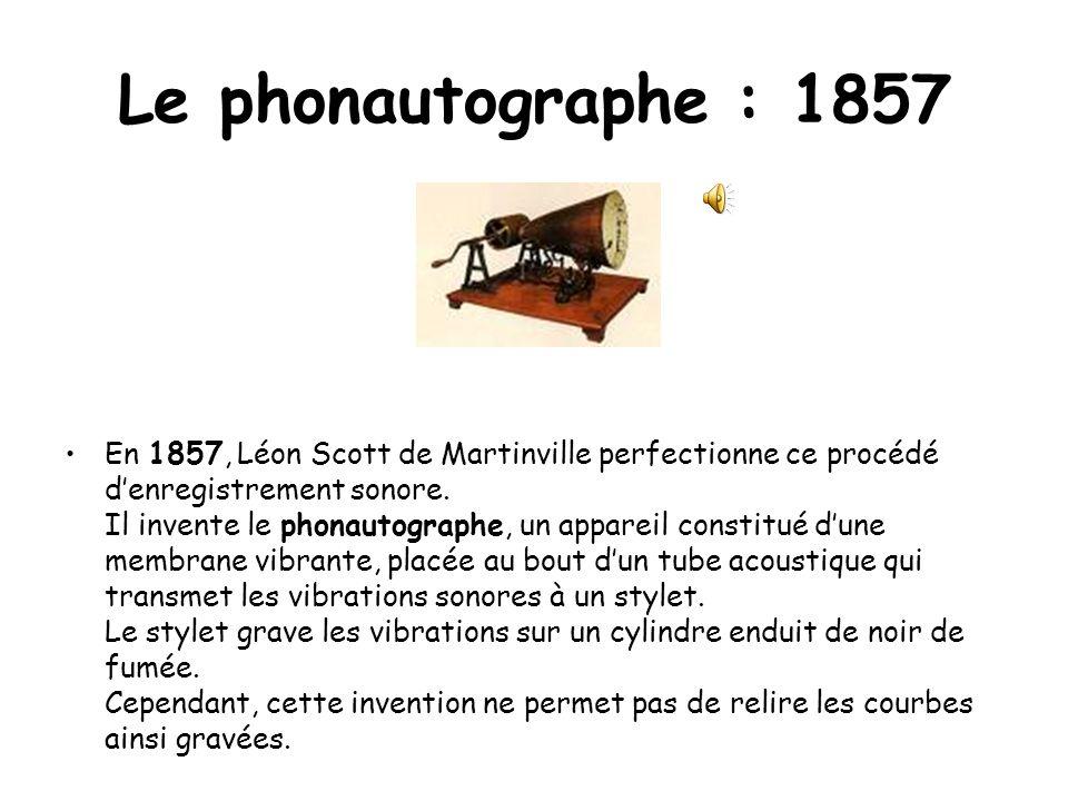 Le phonautographe : 1857