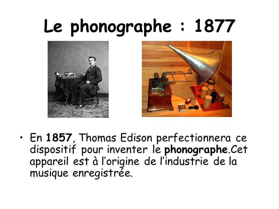 Le phonographe : 1877