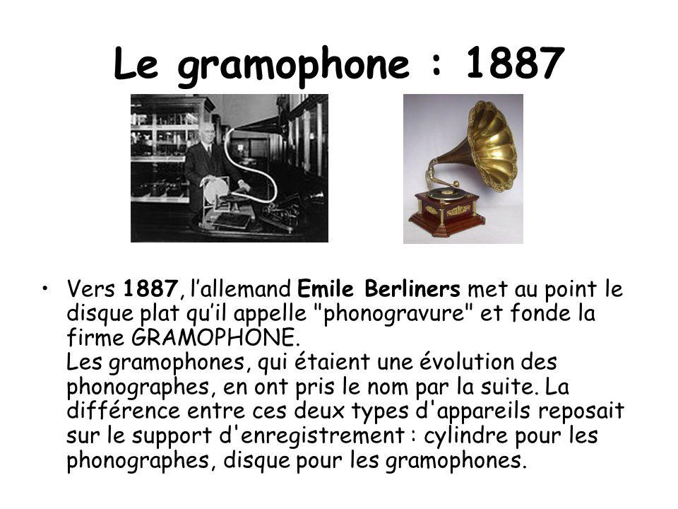 Le gramophone : 1887