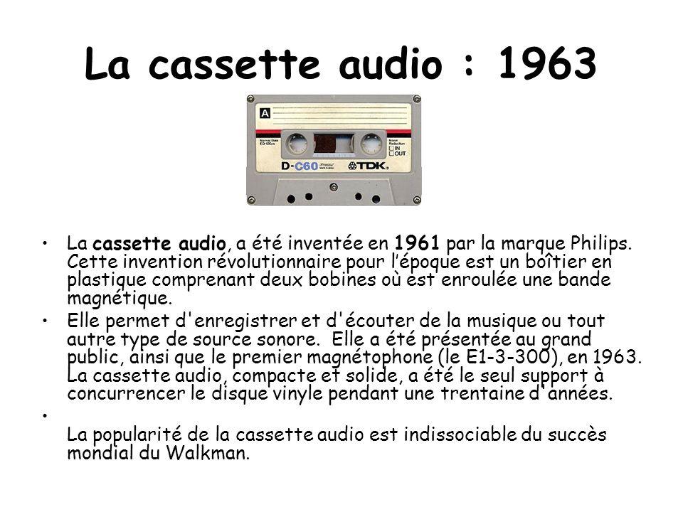 La cassette audio : 1963